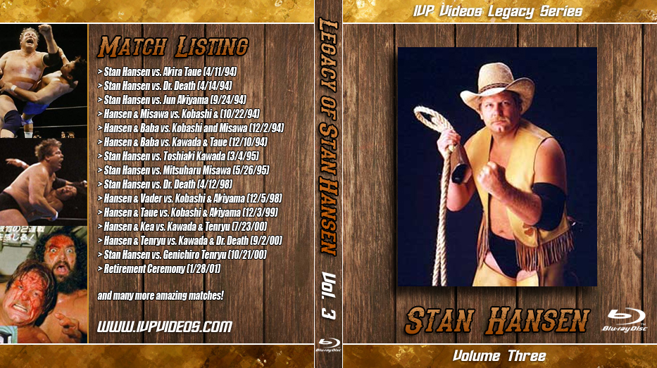 Best of Stan Hansen V.3 (Blu-Ray with Cover Art)